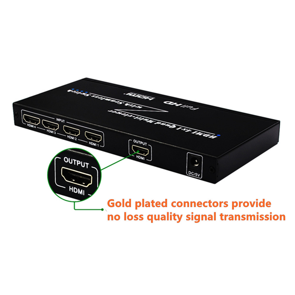 Image 3 - 4 Ports HDMI Switch Seamless Switcher 4x1 Multi viewer Adapter,Full HD1080P,for XBOX 360 PS4/3 Smart Android HDTV Free Shipping-in Computer Cables & Connectors from Computer & Office
