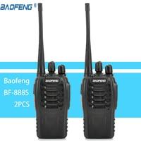 2pcs Walkie Talkie Radio BaoFeng BF 888S 16CH 5W Portable Ham CB Radio Two Way Handheld