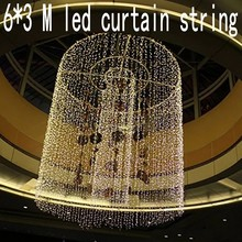 600 leds christmas Window decoration 6m Droop 3m curtain string led lights 220V New year Garden