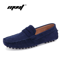Fashion Style Men Shoes Soft Moccasins Loafers High Quality Suede Leather Shoes Men Flats Plus Size Driving Shoes Dropshipping