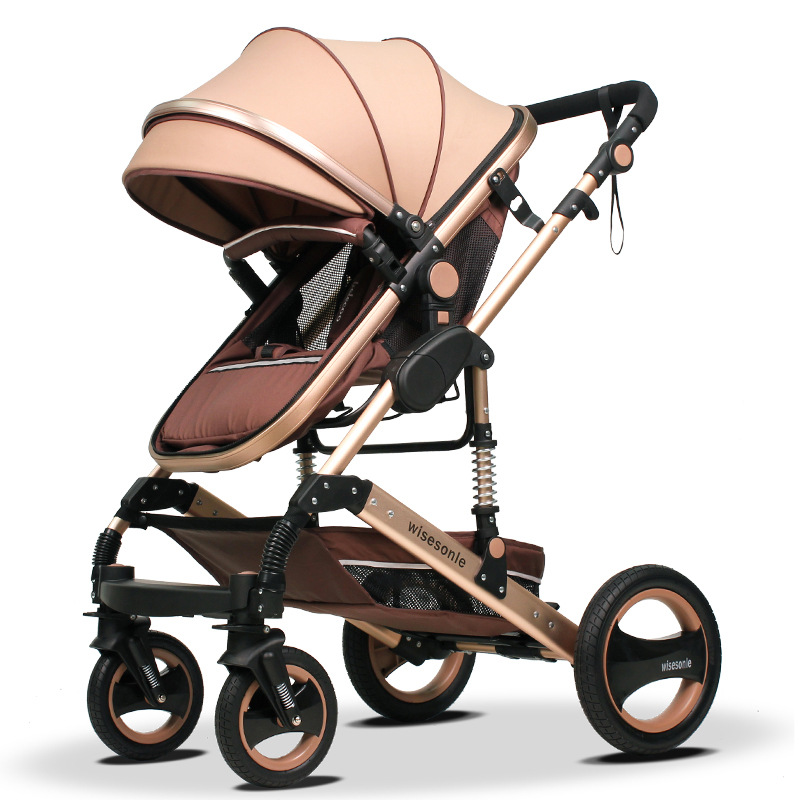 Fashion High-view Foldable Baby Stroller Aluminum Alloy Frame, Shock Absorption, Portable Pram, Bi-direction Pushchair цены