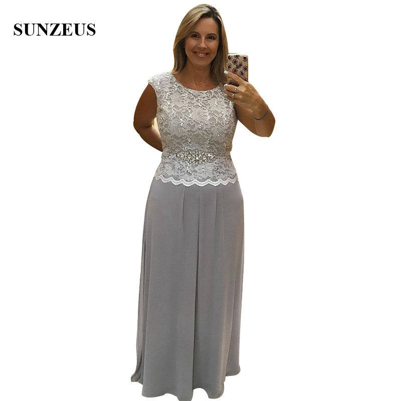 Light Grey Mother Of The Bride Pants Sequins Lace Bodice Long Chiffon Pant  Suits Trousers Women Wedding Party Gowns CM0191 dcdc52193535