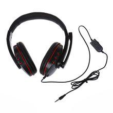 Big Wired gaming Headset fones de ouvido com minifone Fone De Ouvido para PS4 PS4 jogos