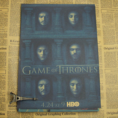 Vintage Paper Retro anime poster Game of Thrones Posters poster Vintage Home Wall sticker Decor HBO 42*30cm