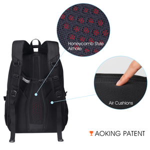 Image 5 - Aoking Originele Merk Nieuwe Patent Ontwerp Massage Luchtkussen Mannen Laptop Rugzak Mannen Grote Capaciteit Nylon Comfort Rugzakken