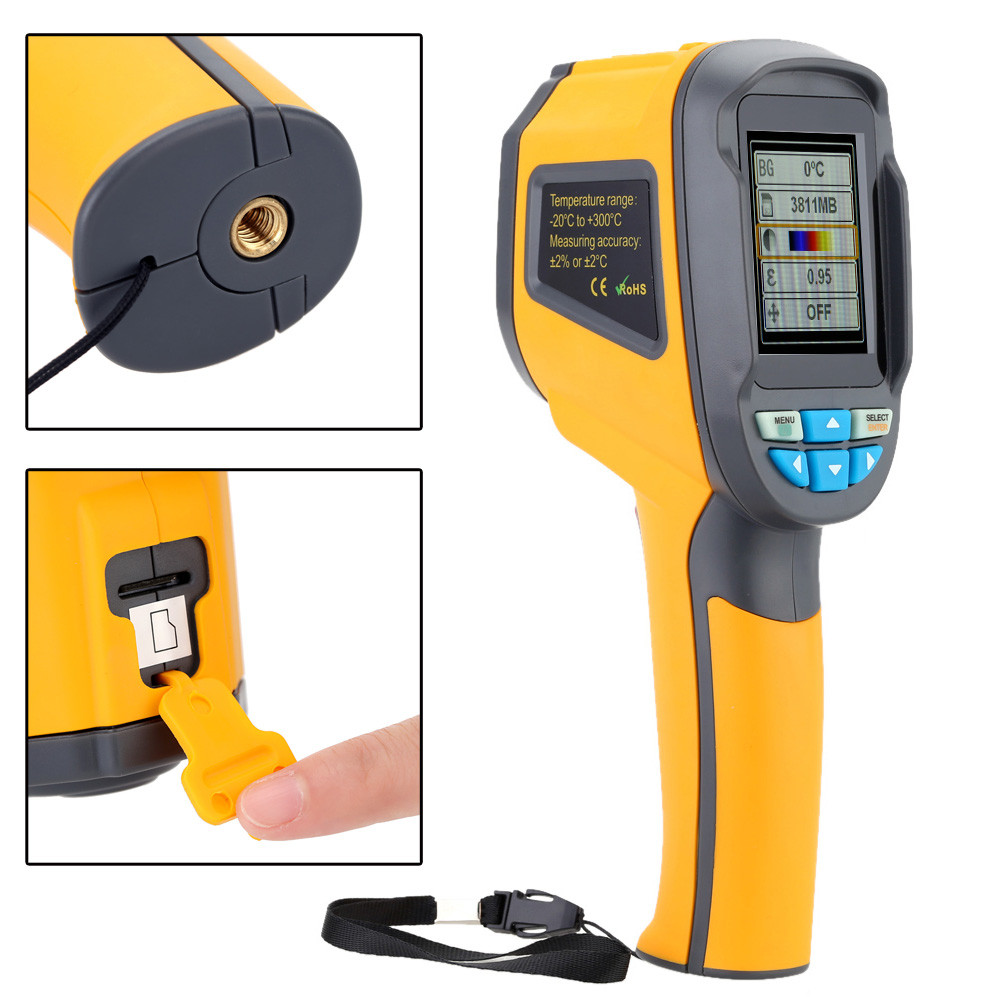 HT-02 Handheld Thermal Imaging Camera With Digital Display For Temperature Measuring 9