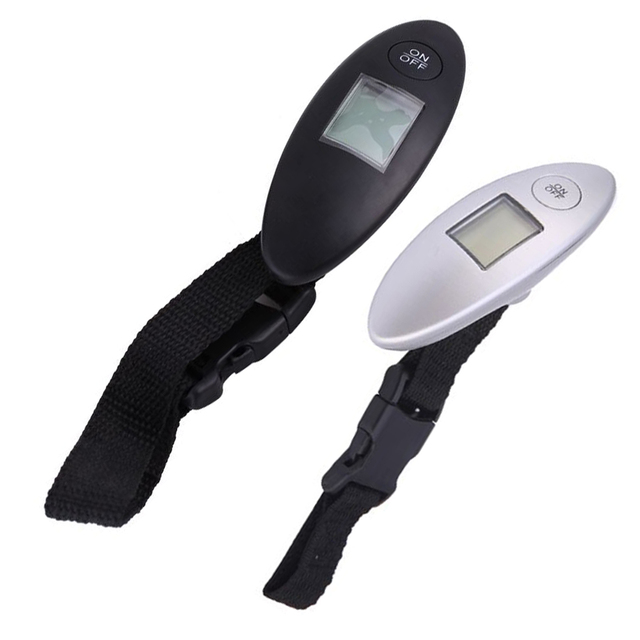 7abadf99c0a3 US $3.25 21% OFF|1pc 40kg/10g 88Lb Digital Electronic Luggage Scale LCD  Display Portable Travel Handheld Weighing Luggage Suitcase Bag Scale-in ...