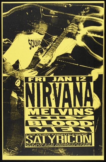 Vintage Nirvana Concert Posters Playing Guitar Retro Poster Canvas Painting DIY Wall Paper Home Decor