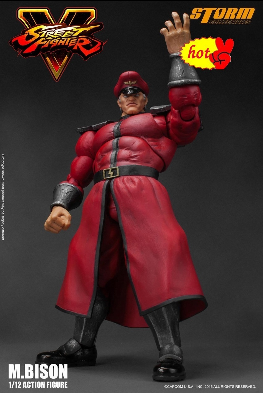 Tempesta originale Giocattoli 1/12 BOSS M. Bison Street Fighter 5 Vega Collection Action Figure per Ventole Regalo di Festa люстра artelamp a2819pl 8wg