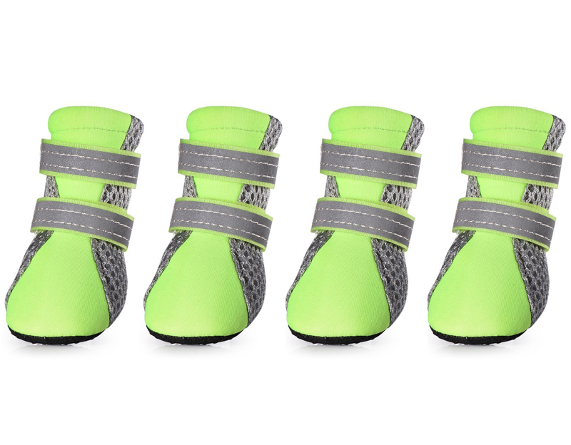2018 New Dog Shoes For Small Big Dogs Breathable Comfort Soft Fabric Anti-slip Sole Night Reflective Net Pet Shoes 302