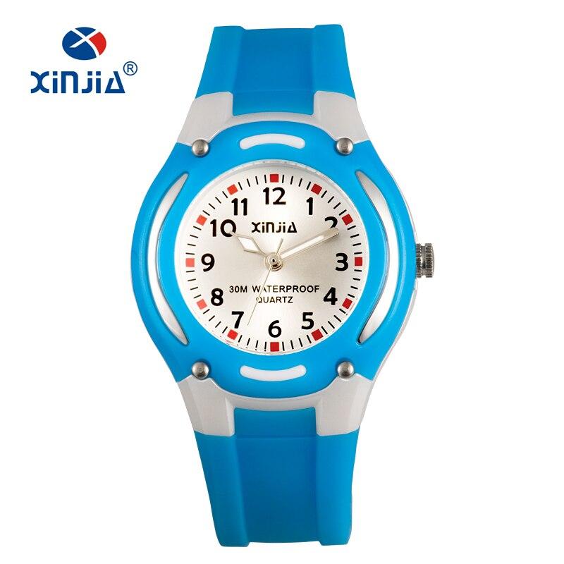 eee8bc0f32a XINJIA Crianças Relógio De Quartzo Senhora Casual Moda Relógios Senhoras  Relógios de Pulso Da Geléia Relógio Dos Miúdos meninas Estudantes Sports  Relógio de ...