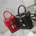 Bailar tronco moda totes mulheres bolsa rebite bolsa de ombro bloqueio messenger bags famosa marca de bolsas de alta qualidade frete grátis