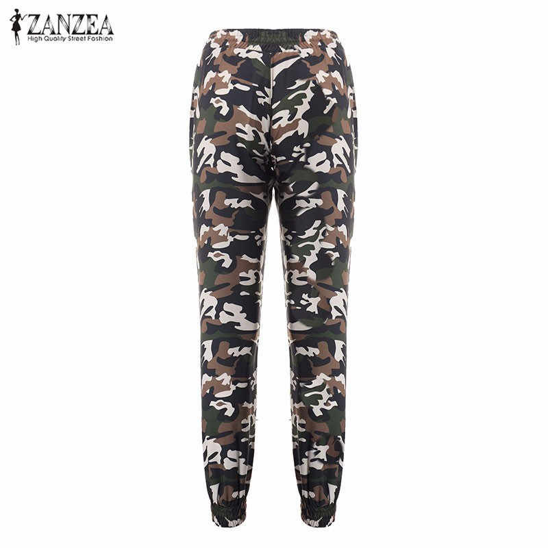 8e01973496637e ... ZANZEA 2018 Camouflage Printed Pants Plus Size S-3XL Autumn Army Cargo  Pants Women Trousers ...