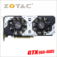 Оригинал ZOTAC видеокарта GeForce GTX 960 4 ГБ 128Bit GDDR5 Графика карты для nVIDIA GM206 оригинальный GTX960 4GD5 GTX950