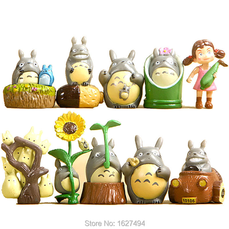 <font><b>Hayao</b></font> <font><b>Miyazaki</b></font> Studio Ghibli Figure <font><b>My</b></font> Neighbor <font><b>Totoro</b></font> PVC Miniature Action Figures Japanese Cheap Anime Figure Kids Toys Gift