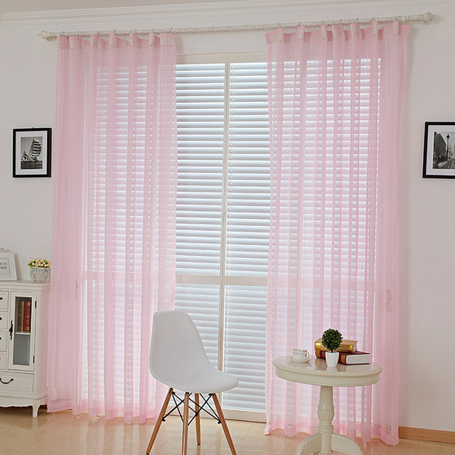 Ordinaire Online Shop Kitchen Curtains Tulle European Window Blinds Curtain Pink  Voile Burlap Tulle Sheer Cortinas Bedroom Curtains For Living Room |  Aliexpress ...