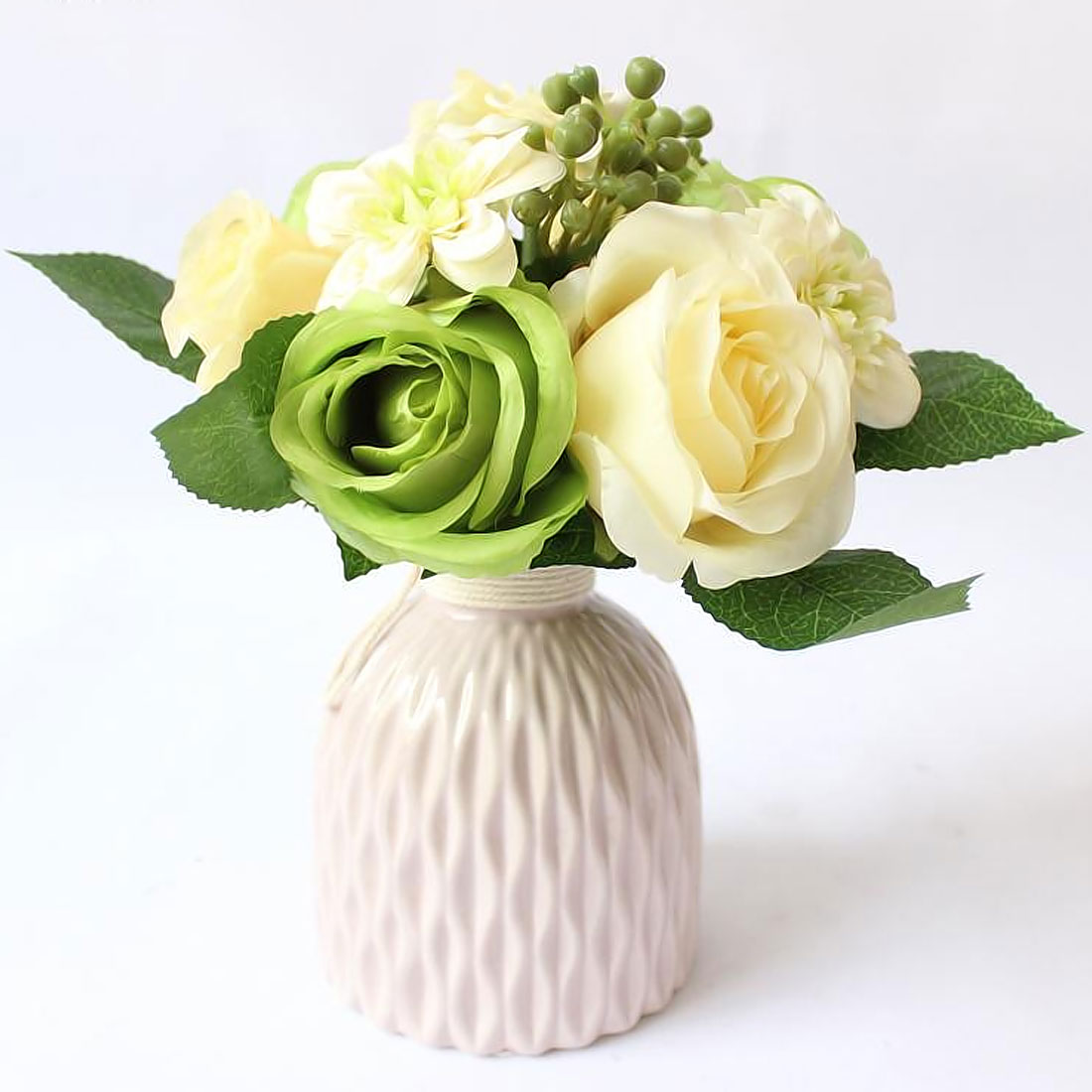 Flowers home decoration silk flower wedding bouquet roses dahlias flowers home decoration silk flower wedding bouquet roses dahlias artificial flowers fall vivid fake leaf flower 9 heads in artificial dried flowers from izmirmasajfo