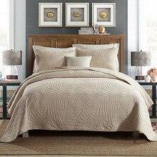 Качественное однотонное одеяло, набор из 3 предметов, постельное белье, Вышитое Хлопковое одеяло s, покрывало для постельного белья, наволочка King size, покрывало, набор