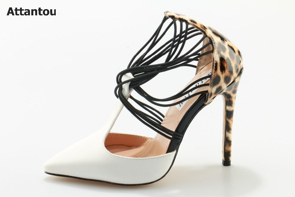 Fashion sandals Leopard high heels woman dress shoes thin heel female pumps slip-on white pointed toe party shoes stiletto heels cicime women s heels thin heel spikes heels solid slip on wedding fashion leisure casual party dressing high heel platform pumps