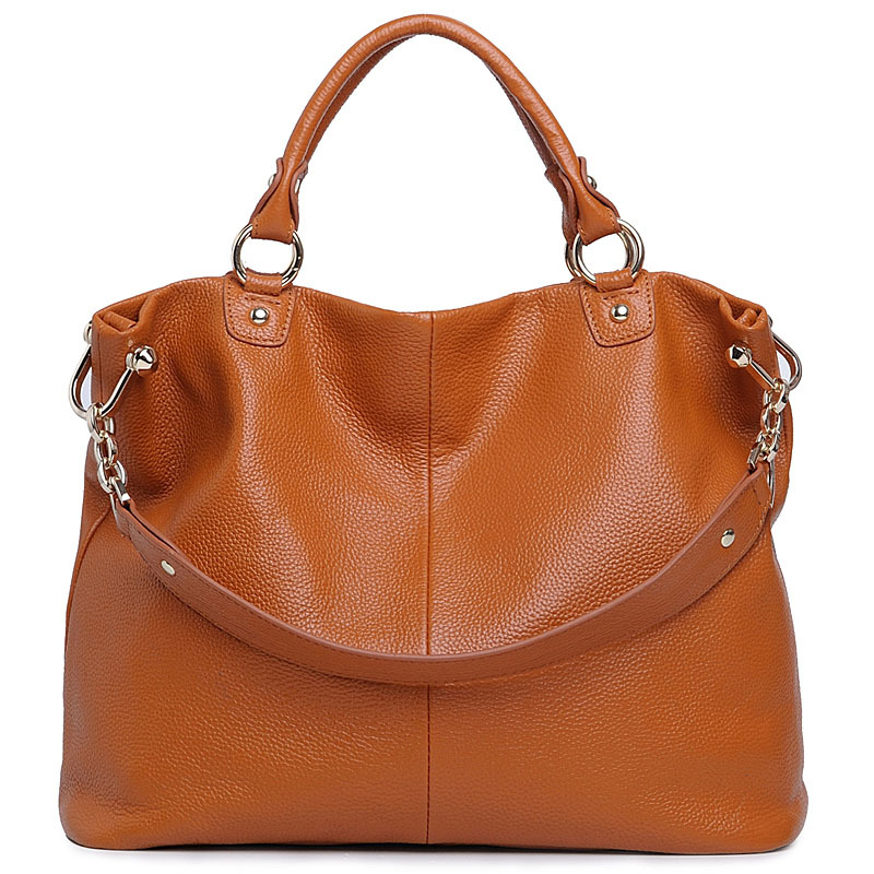 Women Shoulder Bag  Genuine Leather Handbag Fashion Large Capacity Casual Tote Women Crossbody Bag Ladines Totes Girls hand bags 2017 esufeir brand genuine leather women handbag fashion shoulder bag solid cowhide composite bag large capacity casual tote bag
