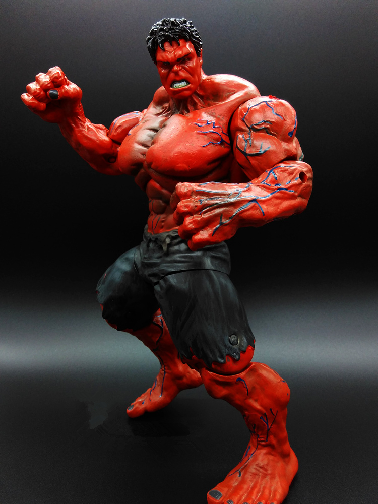 SAINTGI 1pcs Red Green HULK Avengers Huge Captain America 3 Action Figures Super Hero Marvel PVC 26cm Model Gifts OPP BAG Anime movie super hero the hulk pvc action figure toy 25cm red hulk green hulk figures toys free shipping