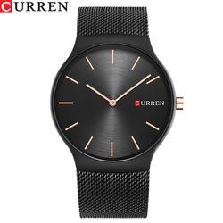 Curren Топ Элитный бренд кварцевые часы Мужская мода платье тег черный полный стали Бизнес Colck мужской простой Повседневное наручные часы