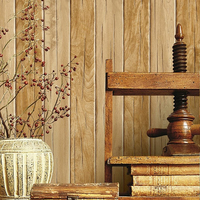 Vintage Stripe Wall Paper Waterproof Thickened PVC Wood Grain Wood Board Wallpapers Contact Paper 3D Wall