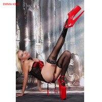 Extreme High Heel 20 cm Heels Designer Platform Shoes Red Black White Pumps Spring Autumn Women Sexy Party Stiletto Heels Shoes