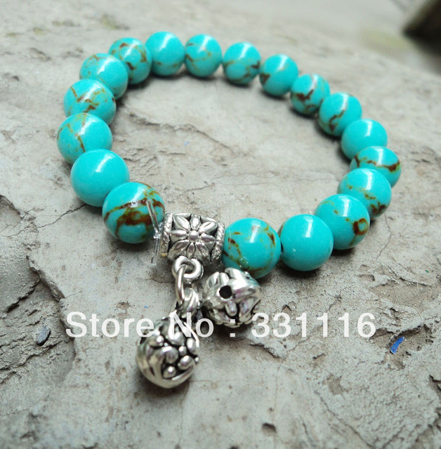 National trend accessories turquoise tibetan jewelry tibetan silver bracelet  natural vintage