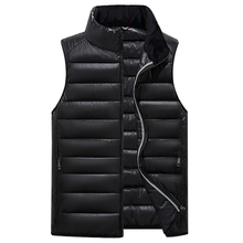 Popular Mens Jacket Sleeveless veste homme Winter Fashion Casual Coats Male Hooded Cotton-Padded Men's Vest Down Jakets 4XL Red