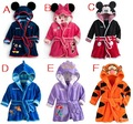 Retail niños pijamas bata chicas nuevos Micky Minnie Mouse Tigger albornoces niños de dibujos animados bebé Home use envío gratuito