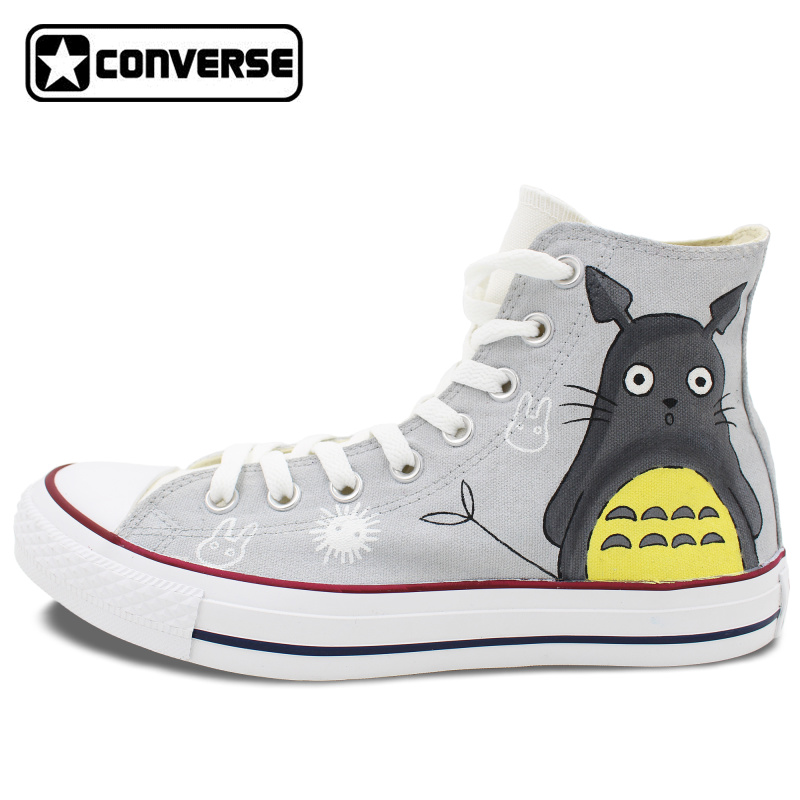 New Gry Original Converse All Star Women Men Shoes Custom My Neighbor Totoro Design Hand Painted Sneakers Skateboarding Shoes