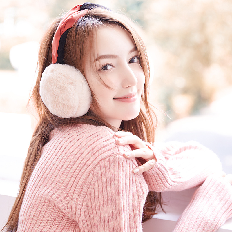 Winter Warm Earmuffs Ladies Foldable Ear Bag Cute Korean Hair With Ear Protection Plus Cashmere And Windproof Ear Warmer