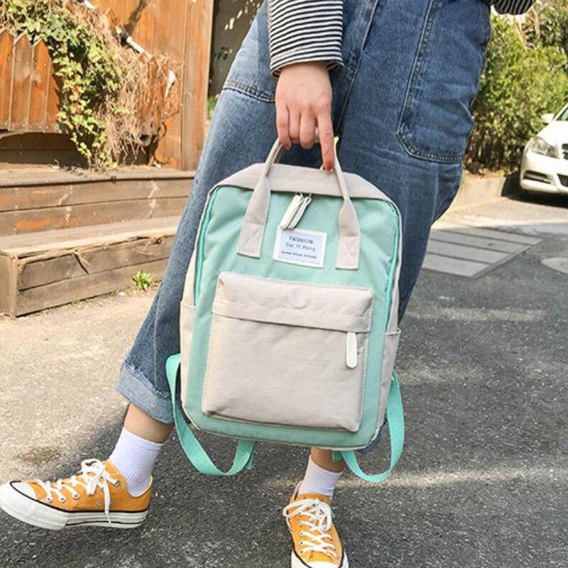 HTB1m.TRBZuYBuNkSmRyq6AA3pXaR Yogodlns Campus Women Backpack School Bag for Teenagers College Canvas Female Bagpack 15inch Laptop Back Packs Bolsas Mochila