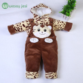 2pcs set baby set tiger animal Newborn infant girl clothes Soft fleece baby boy outfits overalls long sleeves winter clothes set