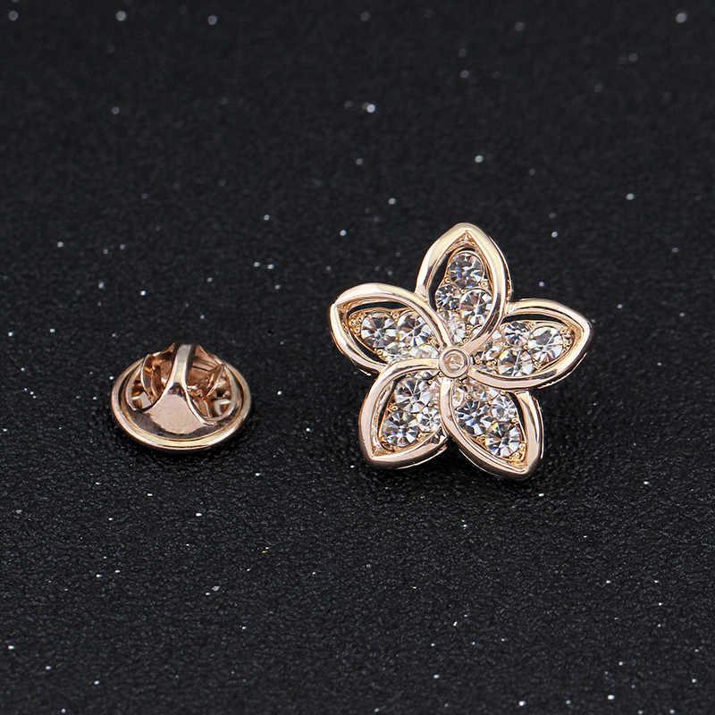 2018 Pin Bros Lencana untuk Syal Fashion Bintang Bros Vintage Wanita Perhiasan untuk Pesta Berlian Imitasi Pin dan Bros untuk Anak Perempuan