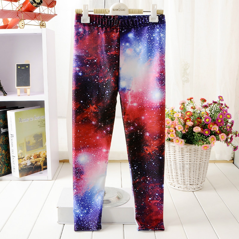 5 Style Girl Leggings Print Owl Tree Galaxy Starry sky Cat Forest 3D Hip hop Show