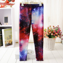 5 Style Girl Leggings Print Owl Tree Galaxy Starry sky Cat Forest 3D Hip hop Show clothes for girls Kids students Pants Trousers