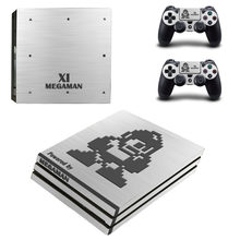 Game Mega Man 11 XI PS4 Pro Skin Sticker Decal for PlayStation 4 Console and 2 Controllers PS4 Pro Skin Sticker Vinyl(China)