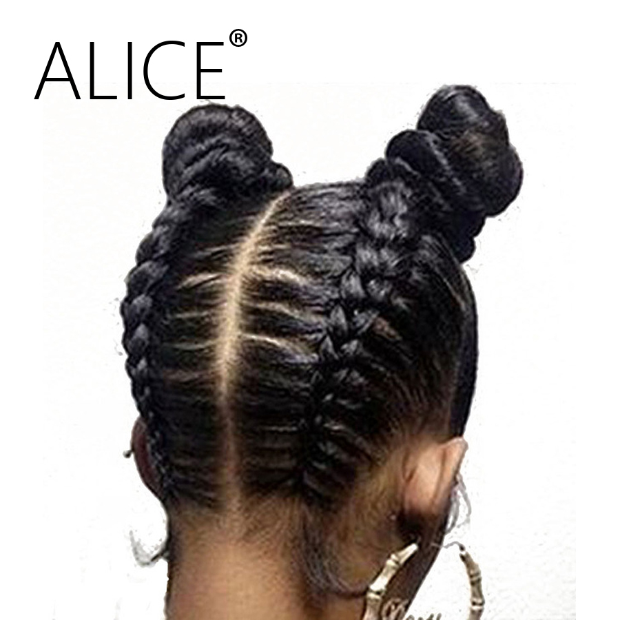 ALICE Pre Plucked Glueless Full Lace Wigs With Baby Hair 130 Density Silky Straight Remy Human Hair Lace Wigs For Black Women