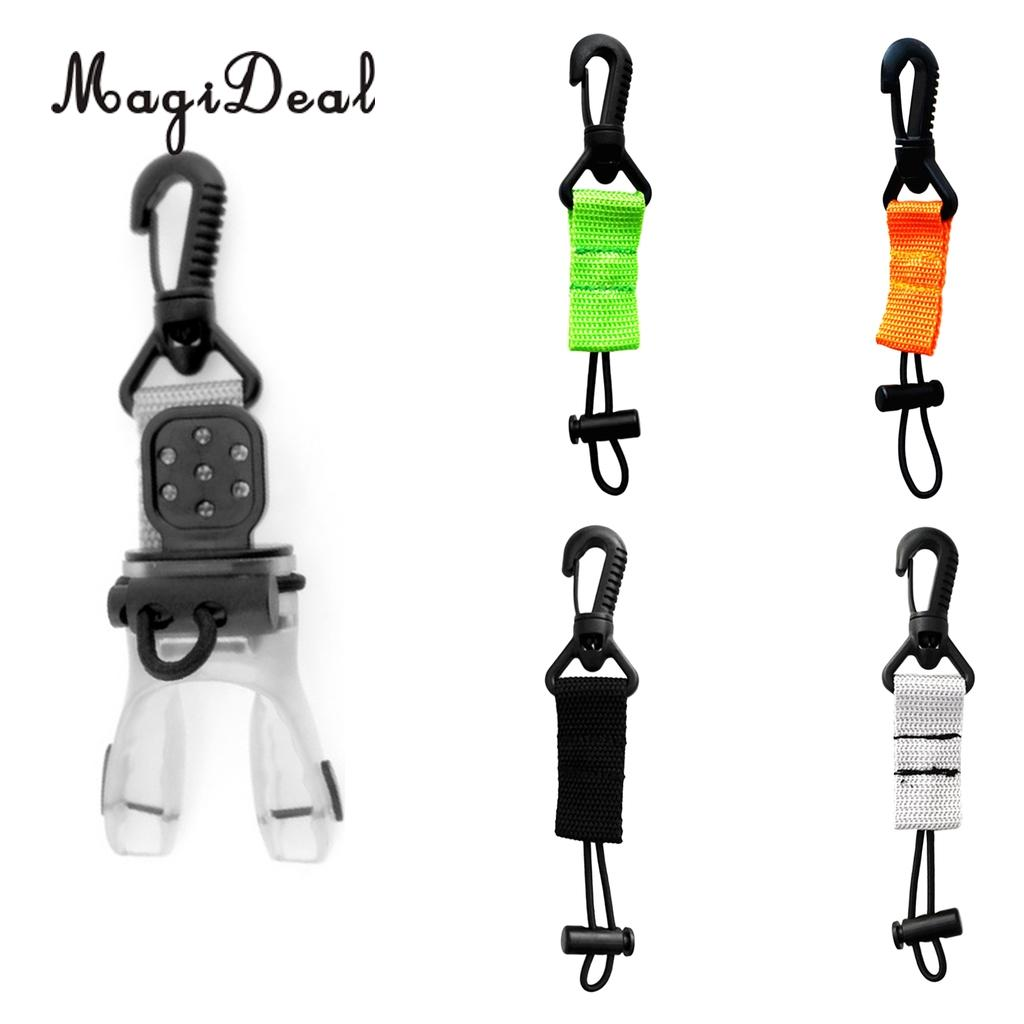 MagiDeal Diving Regulator Octopus Holder Retainer Clip Lanyard Scuba Dive Divers BCD Attachment Snorkeling Gear Accessories