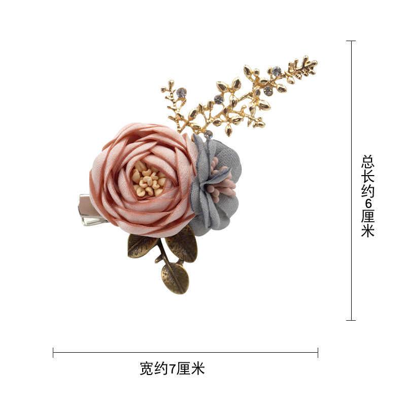 I-Remiel новая брошь цветок из ткани корсаж для женщин шаль кардиган пальто Свадебный Нагрудный значок бутоньерка одежда аксессуары