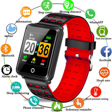 LIGE Sport Bracelet Depth IP68 Waterproof Smart Watch Blood Pressure Heart Rate Monitor Calorie Pedometer Information Reminder(China)