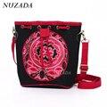 NUZADA Fashion 2016 National Trend Messenger Shoulder Bag Casual Women Messenger Bags Embroidery Canvas Crossbody Bags djj-020