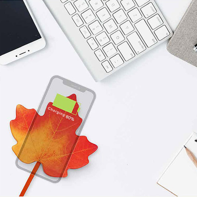 HOT Wireless Charger Smart Maple Shape Fast Wireless Charging Stand for Mobile Phone BUS66