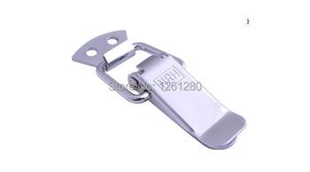 100 pieces metal hasp industrial instrument lock buckle box bag lock spring hasp house furniture hardware part