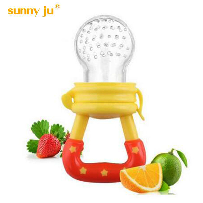 New 2016 High Quality Baby Pacifier Feeding Kids Food Feeder Soother Nipples Soft Feeding Tool Bite Gags Safe Boy Girls Bottles