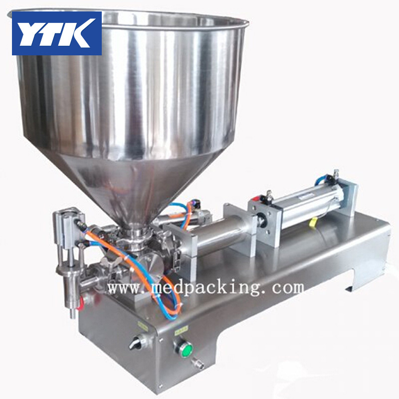 YTK 50-500ml Single Head Cream Pneumatic Filling Machine.Filling speed : 0-30bottles per minute grind