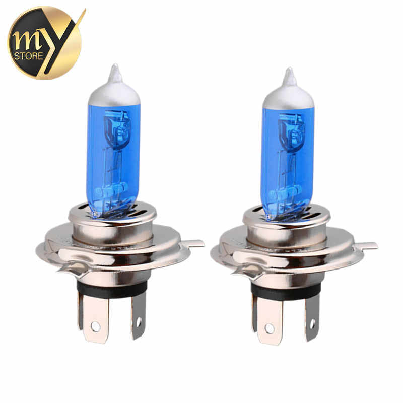 2pcs H4 100W Super Bright White Yellow Fog Halogen Bulb 100W Car Head Light Lamp h4 100W car styling car light source parking