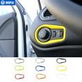 MOPAI новейший ABS переключатель для фар салона автомобиля  декоративные наклейки на рамку для Jeep Renegade 2015-2016  автомобильный Стайлинг